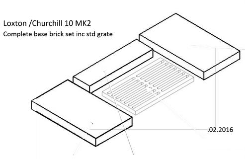 emg grate 305mm x 205mm x 30mm mendip stoves wood burning stoves. Black Bedroom Furniture Sets. Home Design Ideas